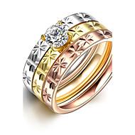 Bandringen Roestvast staal Modieus Sieraden Bruiloft Feest Dagelijks Causaal 3 stuks