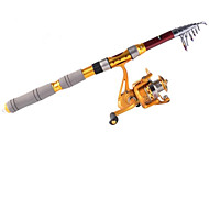 3,0 M Carbon Red Sea Fishing Medium Light caña de pescar