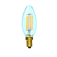 E12 E14 E26 E27 2200K-3000K Warm White 3W 4LED Dimmable Retro Imitation Tungsten Filament LED Candle Light