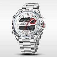 WEIDE Masculino Relógio de Pulso Relogio digital Quartzo Digital Quartzo JaponêsLCD Calendário Cronógrafo Impermeável Dois Fusos Horários