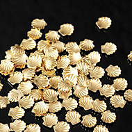 Lovely Mental 3mm Gold Silver Nail Jewelry (1000PCS)