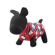犬用品 Tシャツ レッド / ブルー 犬用ウェア 冬 / 夏 / 春/秋 格子柄 保温