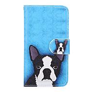 For Samsung Galaxy etui Kortholder Pung Med stativ Flip Etui Heldækkende Etui Hund Kunstlæder for Samsung J5 (2016) J1 (2016)