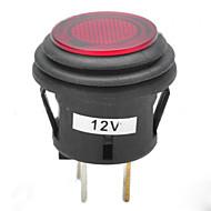 jtron 12v pulsador 20a coche interruptor de enclavamiento con rojo / azul llevó indicador