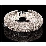 女性 チェーン&リンクブレスレット ラインストーン 模造ダイヤモンド 合金 ファッション 高級ジュエリー シルバー ゴールデン ジュエリー 1個