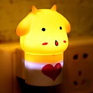 creativo caldo sensore di luce pecore bianche induzione suono relativo alla luce il bambino notte di sonno (colori assortiti)