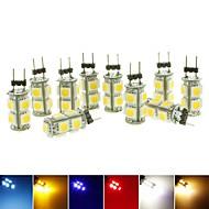 10個 SENCART G4 2W 9 SMD 5050 110-140 LM 温白色 / クールホワイト / ナチュラルホワイト / イエロー / グリーン / レッド / ブルー T 装飾用 LEDスポットライト DC 12 V