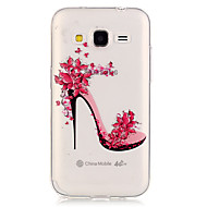 Voor Samsung Galaxy hoesje Transparant hoesje Achterkantje hoesje Sexy dame TPU Samsung Grand Prime / Core Prime