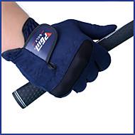 Golfhansker Full Finger Herre Anti-Sklining / Hold Varm / Slitasje-sikker Golf / Fritidssport Blå Bomullsfiber