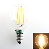 1 pièce Zweihnder E14 4W 4 COB 380 lm Blanc Chaud G45 edison Vintage Ampoules à Filament LED AC 100-240 V