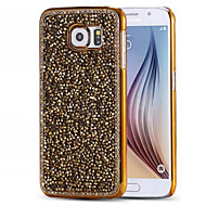 Mert Samsung Galaxy S7 Edge Strassz / Galvanizálás Case Hátlap Case Csillámpor PC Samsung S7 edge / S7 / S6 edge / S6