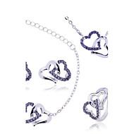 Γυναικεία Σετ Κοσμημάτων Κολιέ / βραχιόλι Κολιέ / Σκουλαρίκια Love κοσμήματα πολυτελείας κοστούμι κοστουμιών Ζιρκονίτης Πετράδι
