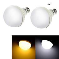 12W E26/E27 Lâmpada Redonda LED C35 18 SMD 5630 850 lm Branco Quente / Branco Frio Decorativa AC 220-240 V 2 pçs