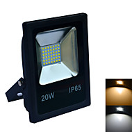 JIAWEN 20W IP65 Cool White/warm white LED Floodlight - Black (AC 220V)