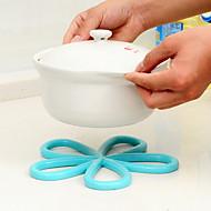 δαμάσκηνο λουλούδι αποτελούν το ζεστό μόνωση pad αντιολισθητικά τραπέζι pvc μαξιλάρι ποτ τυχαία χρώμα