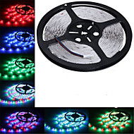 5m hry® smd 3528 rgb 300 førte farveskiftende fleksibel strimmel lys (DC12V)