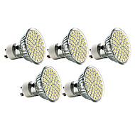 5 pcs GU10 3W 60 SMD 3528 240 LM Warm White MR16 LED Spotlight AC 220-240 V