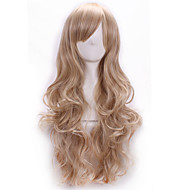 Kobieta Peruki syntetyczne Tkany maszynowo Długo Body wave Blonde Część Boczna Z grzywką Halloween Wig Karnawałowa Wig Costume Peruki