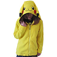 Unisex Polar Fleece Lovely Pikachu Kigurumi hoodie