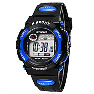 Children/Men's SYNOKE LEO Dial Digital PU Black Band Water Resistant Wrist Watch Cool Watches Unique Watches