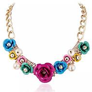 Dame Halskædevedhæng Perlehalskæde Perle Imiteret Perle Legering Mode Farverig Europæisk Sort Rose Blå Lys pink Regnbue Smykker For