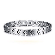 Magnetic Therapy Bracelet Men's Jewelry Health Care Silver Titanium Steel Bracelet
