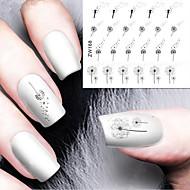 Fashion Printing Pattern Water Transfer Printing Dandelion Nail Stickers