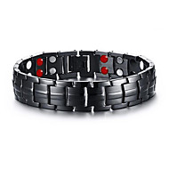 Men's Jewelry Health Care Black Stainless Steel Magnetic Therapy Bracelet