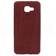 madera en forma fina y delgada caja del teléfono de cuero perfectamente suave para la galaxia A310 / A510 / A710 (2016)