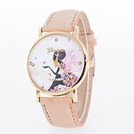 Dames Modieus horloge Vrijetijdshorloge Kwarts Vrijetijdshorloge PU Band Vlinder Bloem Zwart Wit Blauw Rood Bruin Groen Roze rozeRood
