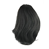 길이 가발 검은 색 짧은 포니 테일 25cm 합성 직선 고온 와이어 색상 2