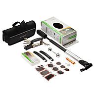 Sahoo 16 i en cykel cykling däckreparation multiverktyg set kit med bärbara minipumpcykelreparationsverktyg
