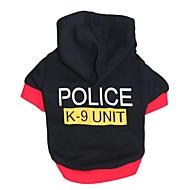 猫用品 犬用品 パーカー ブラック 犬用ウェア 冬 春/秋 警察/軍隊 キュート ファッション