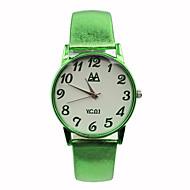 Dames Modieus horloge Vrijetijdshorloge Kwarts Leer Band Snoep Blauw Rood Bruin Groen roze
