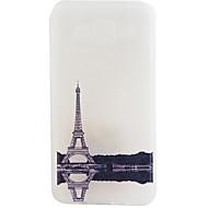 Voor Samsung Galaxy hoesje Mat hoesje Achterkantje hoesje Eiffeltoren Zacht TPU Samsung J7 / J5 / J1 2015 / J1