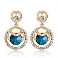 Modieus verklaring Jewelry Luxe Sieraden Kristal imitatie Diamond Cirkelvorm Kruisvorm Blauw Sieraden Voor Feest Dagelijks Causaal 1 paar