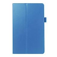إلى حالة سامسونج غالاكسي مع حامل / قلب غطاء كامل الجسم غطاء لون صلب جلد اصطناعي Samsung Tab E 9.6