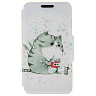 Για Θήκη Huawei / P9 / P9 Lite Θήκη καρτών / με βάση στήριξης tok Πλήρης κάλυψη tok Γάτα Σκληρή Συνθετικό δέρμα HuaweiHuawei P9 / Huawei