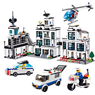 Toys For Boys Building Blocks Blocks Model & Building Toy Car / Motorcycle Plastic Above 6 White / Blue