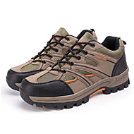 Brown/Gray/Green Wearproof Rubber Hiking Shoes for Men