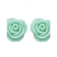Oorknopjes Modieus Hars Bloemvorm Zwart Geel Groen Sieraden Voor Dagelijks Causaal 1 paar