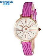 SYNOKE 女性用 ファッションウォッチ 耐水 クォーツ PU バンド カジュアルスーツ ブラック 白 レッド ピンク パープル