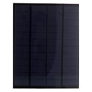 5,5 W 12V PET lamin polykristallina kisel solpanel solcell för diy (sw5512)