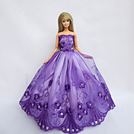 Princess Dresses For Barbie Doll Purple Dresses For Girl's Doll Toy