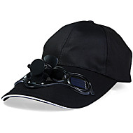Solar Power Fan Cap Sunhat with Air Fan for Summer Outdoor Sports Cycling
