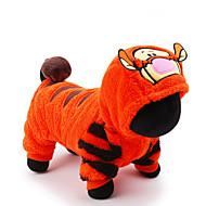 고양이 강아지 코스츔 점프 수트 강아지 의류 귀여운 코스프레 휴일 만화 오렌지