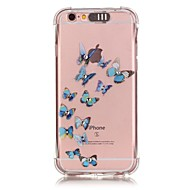 Blue Butterfly Pattern Resistance Calls Flashing TPU Soft Case Phone Case for iPhone 5/5S/SE/6/6S/6 Plus/6 Plus