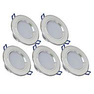 3W LED mélysugárzók 270 lm Meleg fehér / Hideg fehér SMD 5730 AC 85-265 V 5 db