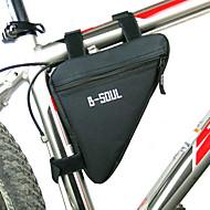 B-SOUL Sac de VéloSac de cadre de vélo Zip étanche Résistant à l'humidité Résistant aux Chocs Vestimentaire Sac de CyclismePolyester PVC