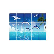 애니멀 / 로맨스 / 모양 / 3D 벽 스티커 플레인 월스티커 데코레이티브 월 스티커,pvc 자료 이동가능 / 재부착가능 홈 장식 벽 데칼